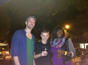 Micha and I with one of his friends.