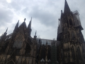 The Cologne Cathedral, The Dom, the evening I arrived in Cologne.