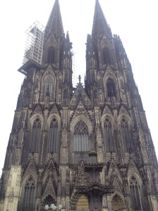 The Dom, featuring scaffolding.