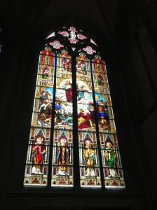 More impressive glass artwork in the cathedrals windows.