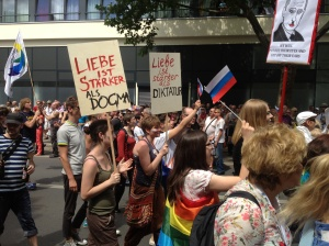 The beginning of the Russian marchers.