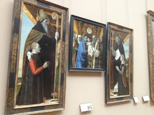 A collection of religious themed artworks.