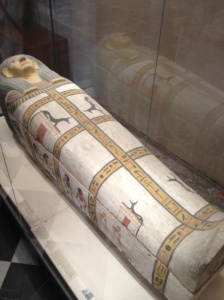 Ancient Egyptian coffin.