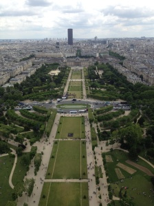 The Champs de Mars from the Eiffel Tower.