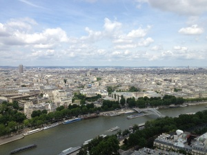 View from the western side of the Eiffel Tower.