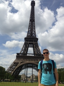 It proved difficult for all other tourists to take my photo with the Eiffel Tower without cutting the top off.