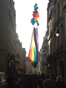 Pride bringing a dash of colour to the already charming streets of Paris.