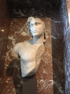 A bust of Alexander the Great that now looks suspiciously like Voldemort.