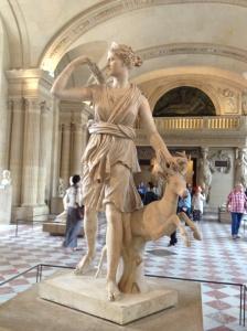 Sculpture of Diana, Roman goddess of the moon.