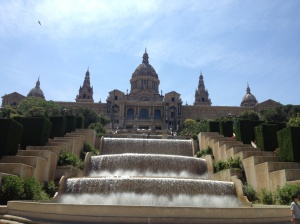 Museu Nacional d'Art de Catalunya, with the famous fountain in front.