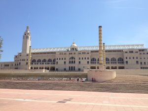 The Barcelona Olympic Stadium.