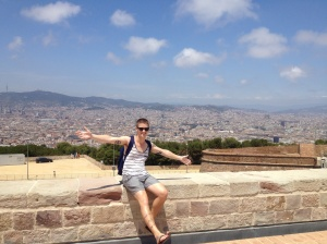 The view over the city from the castles vantage point on Montjuïc Hill.