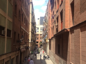 Tiny side streets of Barcelona.