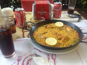 The delicious paella.