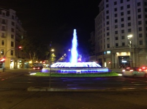 Some of the pretty sights in Barcelona that I stumbled across on my way to the club.