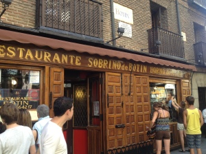 Restaurante Sobrino de Botín - the oldest restaurant in the world.