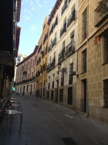 The classical streets of Madrid.