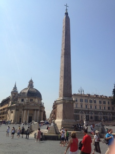 The obelisk in Piazza del Popolo.
