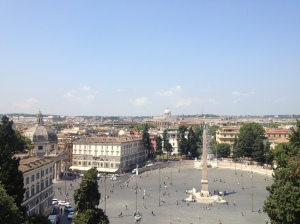 The view of Piazza del Popolo from the top of Pincio Hill.