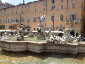 The Neptune Fountain in Piazza Navona.