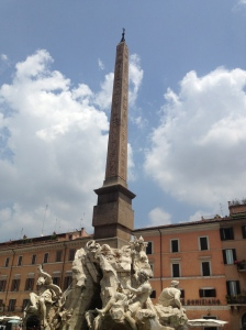 The Fountain of the Four Rivers, the centrepoint of Piazza Navona.