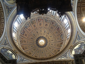 The Michelangelo Dome inside St Peter's Basilica.