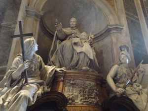 One of the many statues inside St Peter's Basilica. Unfortunately, I am unable to recall it's name.