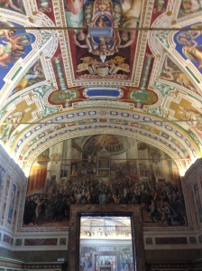 One of the halls leading up to the Sistine Chapel.