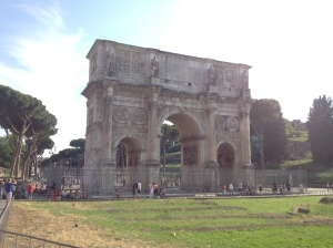Arco di Costantino right beside the Colosseum.