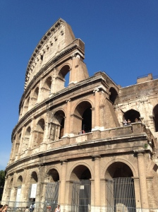 The Colosseum close up.
