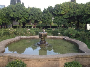 A fountain in the upper reaches of the Forum on Palatine Hill.