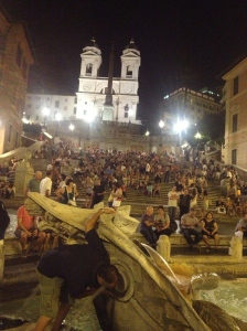 View of the Spanish Steps from the bottom...