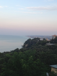 Ocean views as dusk settles over the province of Ancona.