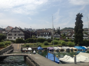 One of the smaller docks on the edge of Lake Zürich.