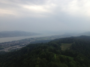 The view from the tower at the top of Uetliberg.