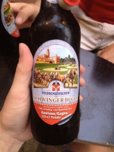 One of the Swiss beers I shared with Robin.