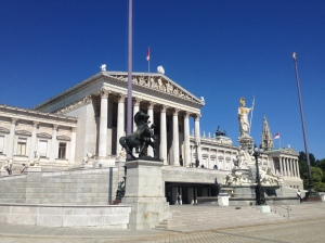 The Austrian Parliament Building.