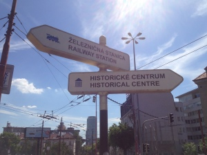 Sign pointing me towards the Historical Centre that I was unable to get to.