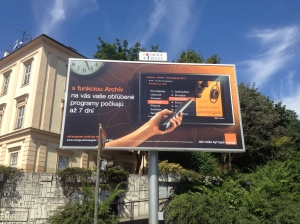 Slovak billboard - I was limited in the sights I was able to photograph, okay?