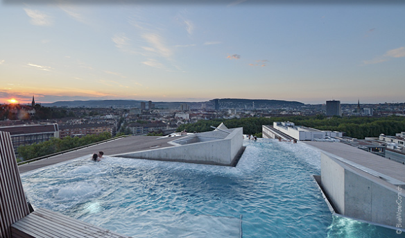 I wasn't able to take one, so I stole this photo from the Internet - but I couldn't not include a picture of the amazing rooftop spa and the view that it offered.