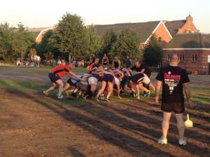 The scrum was one rugby technique that I decided not to take part in.
