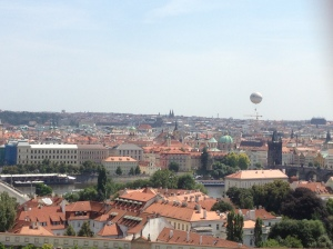 View from the castle grounds over Prague.