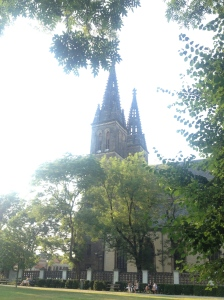 The view of the church from our comfy spot on the grass.