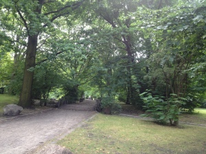 The greenery of Volkspark Humboldthain.