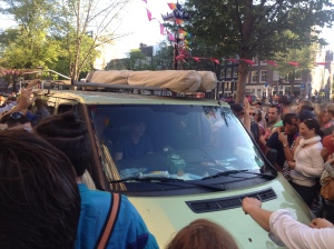 The van that gatecrashed our street party.