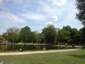Vondelpark is full of lakes.