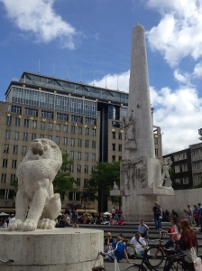 The National Monument is a WWII monument in Dam Square.