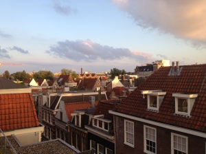 Amsterdam rooftops.