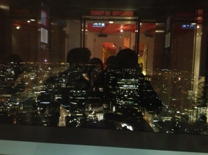 The view from the bar at SUSHISAMBA.