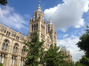 Outside the Natural History Museum.